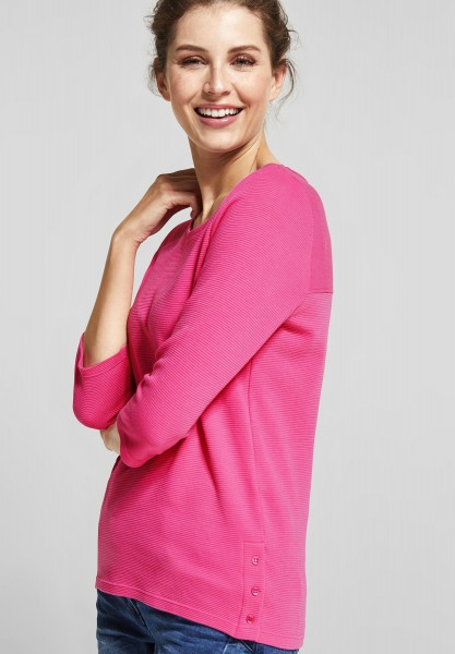 CECIL - Struktur Shirt Nila in Bubblegum Pink