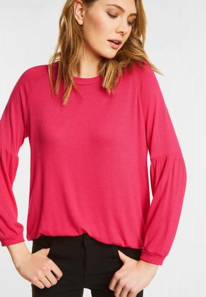 Street One - Raglan Shirt mit Raffungen in Colada Pink