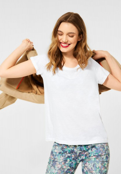 Street One - Cosy T-Shirt in White