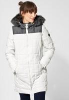 CECIL - Warmer Wintermantel in Pure Off White