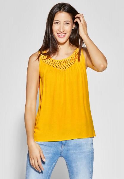 Street One - Shirt mit Spitze Tinka in Bright Clementine
