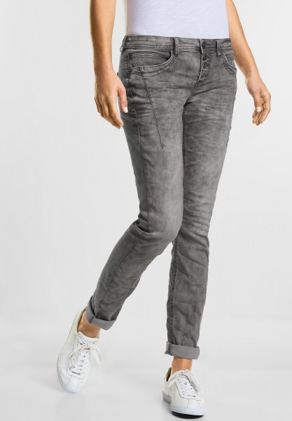 Street One Casual Fit Denim Crissi in Light Grey Foil Wash