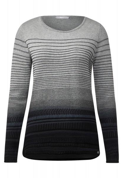 CECIL - Pullover mit Strukturmuster Black