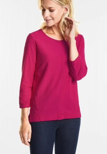 CECIL Strukturiertes Shirt in Bright Magenta