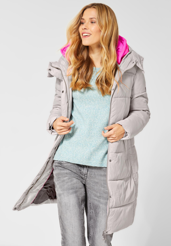 Puffer Coat in Silver Dune von CECIL online kaufen