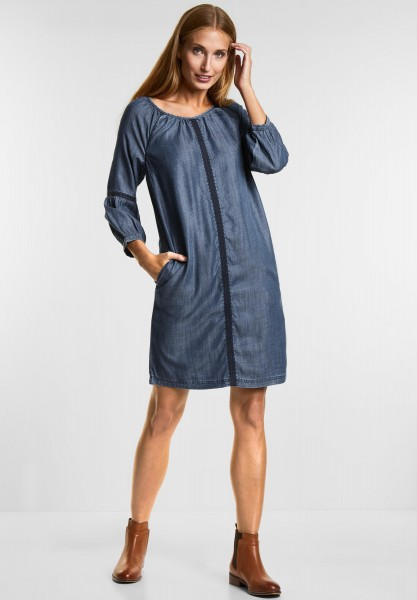CECIL - Tencel Denim Kleid in Mid Blue Used Wash