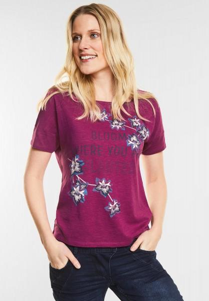CECIL - Kurzes Print Shirt in Magic Pink