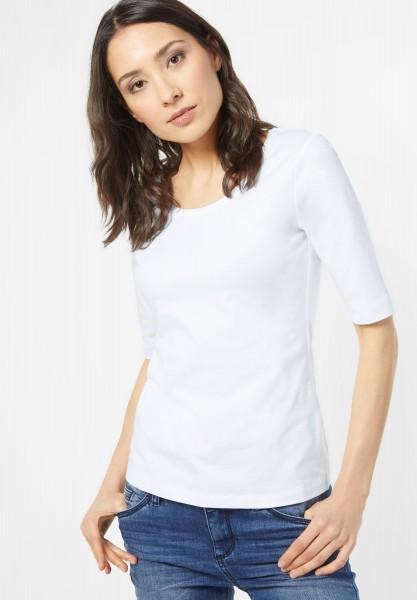 Street One - Organic Halbarm Shirt Lenka in White