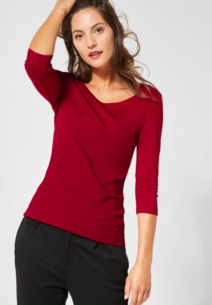 Street One - Basic Shirt Pania in Love Red