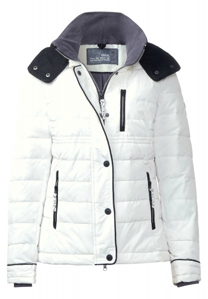 CECIL - Steppjacke mit Thermometer Pure Off White