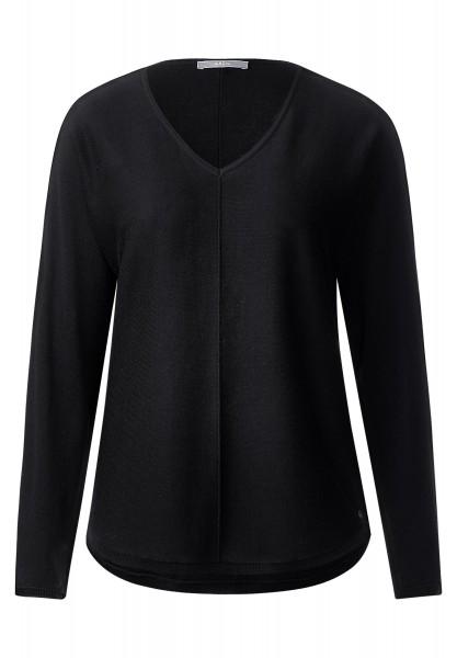 CECIL - V-Neck Pulli im Basic Style in Black
