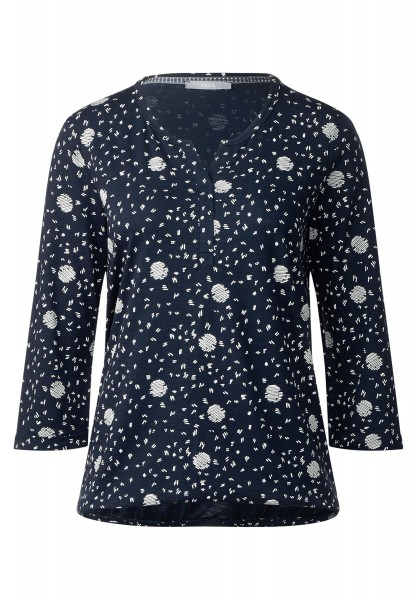 CECIL - Shirt mit Grafikprint Claire in Deep Blue