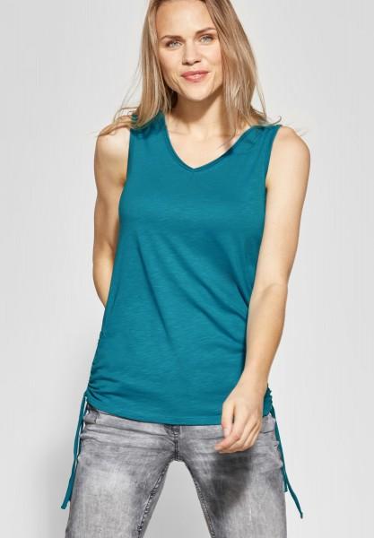CECIL - Shirt mit Raffung Klea in Cool Lagoon Blue