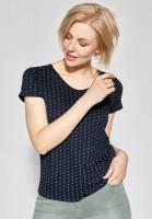 CECIL - Grafik-Print Shirt Naemi in Deep Blue
