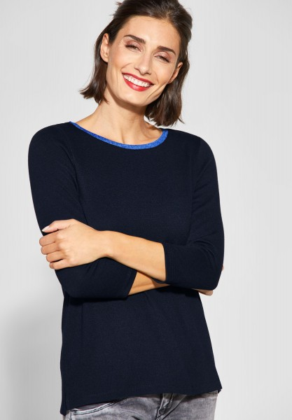 Street One - Shirt mit Farbdetail Cessy in Deep Blue