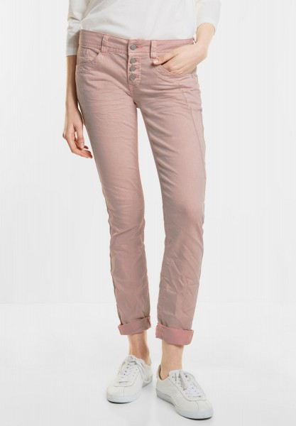 Street One - Coloured Denim Crissi in Pale Rose Washed