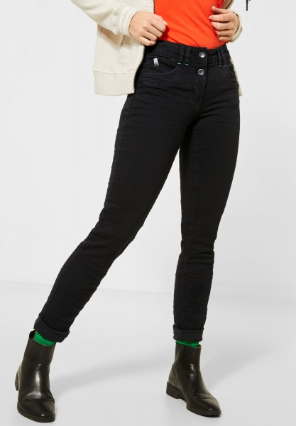 CECIL - Schwarze Loose Fit Denim in Black Denim