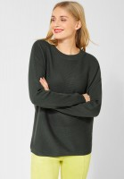 Street One - Pullover Faye mit Rippe in Powder Green
