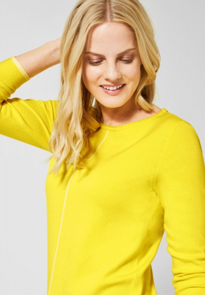 CECIL - Basic Pullover in Fresh Yellow