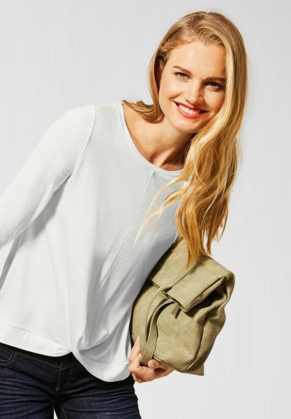 Street One - Uni Shirt mit 3/4-Ärmeln in Off White