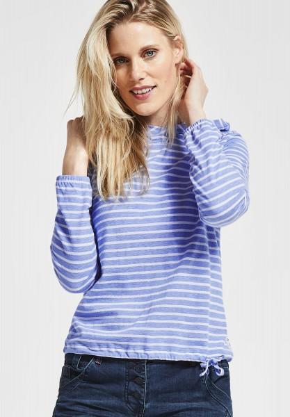 CECIL - Baumwoll Shirt mit Streifen in Cornflower Blue