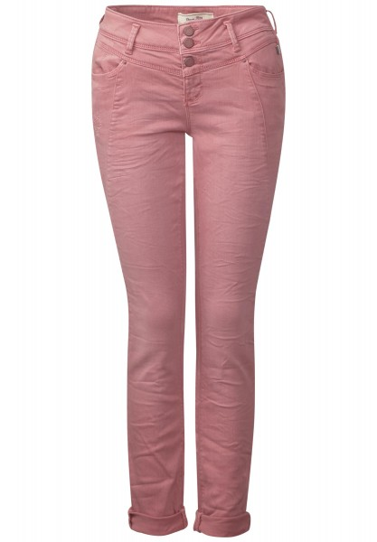 Street One - Loose Fit Hose Rob in Coloured Blooming Rose Wash