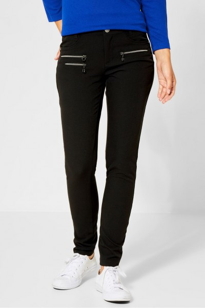 Street One - Slim Fit Stretch Hose York in Black