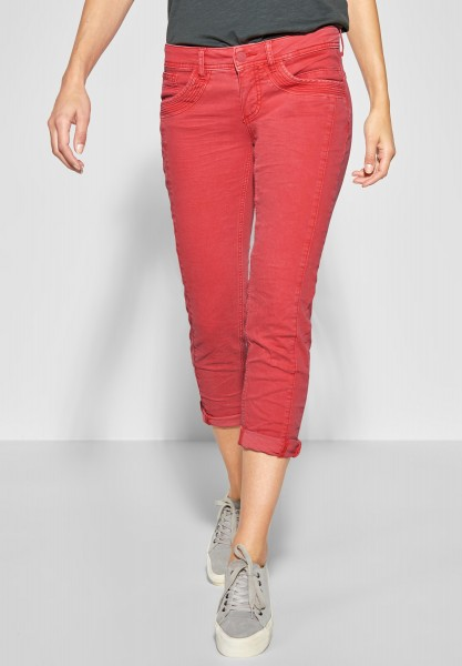 Street One - Verkürzte Colourdenim Crissi in Vivid Red Washed