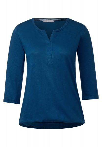 CECIL - 3/4-Arm Shirt Amelie Deep Sea Blue