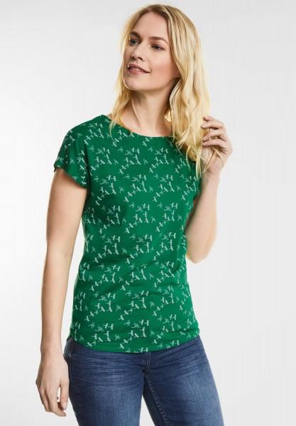 CECIL - T-Shirt mit Libellen-Print in Clover Green