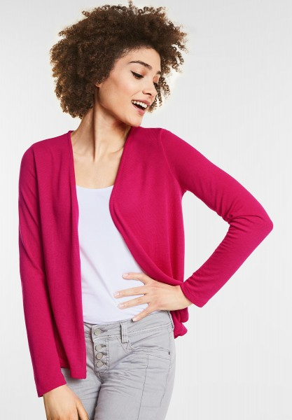 Street One Open Style Cardigan Nette in Carribean Pink