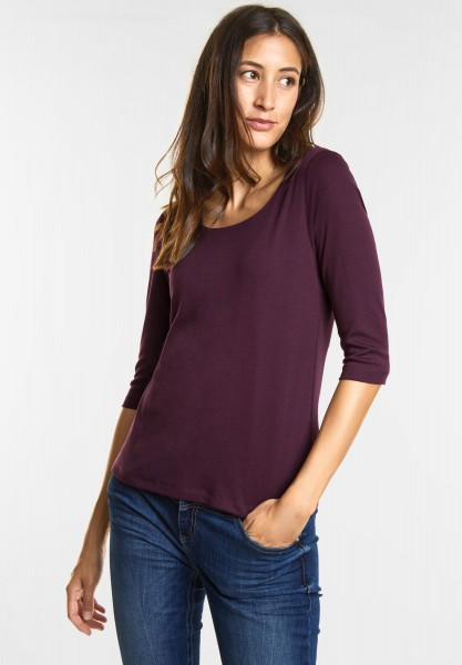 Street One - Schmales Basic Shirt Pania in Mystique Berry