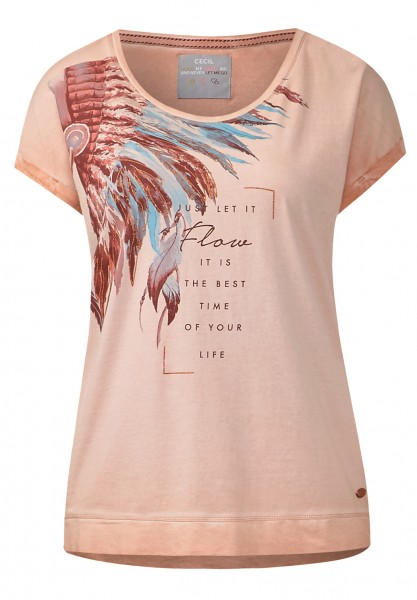 CECIL - Washed-Look Printshirt Rose Beryl