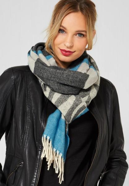 Street One - Schal mit grafischem Muster in Club Grey Melange