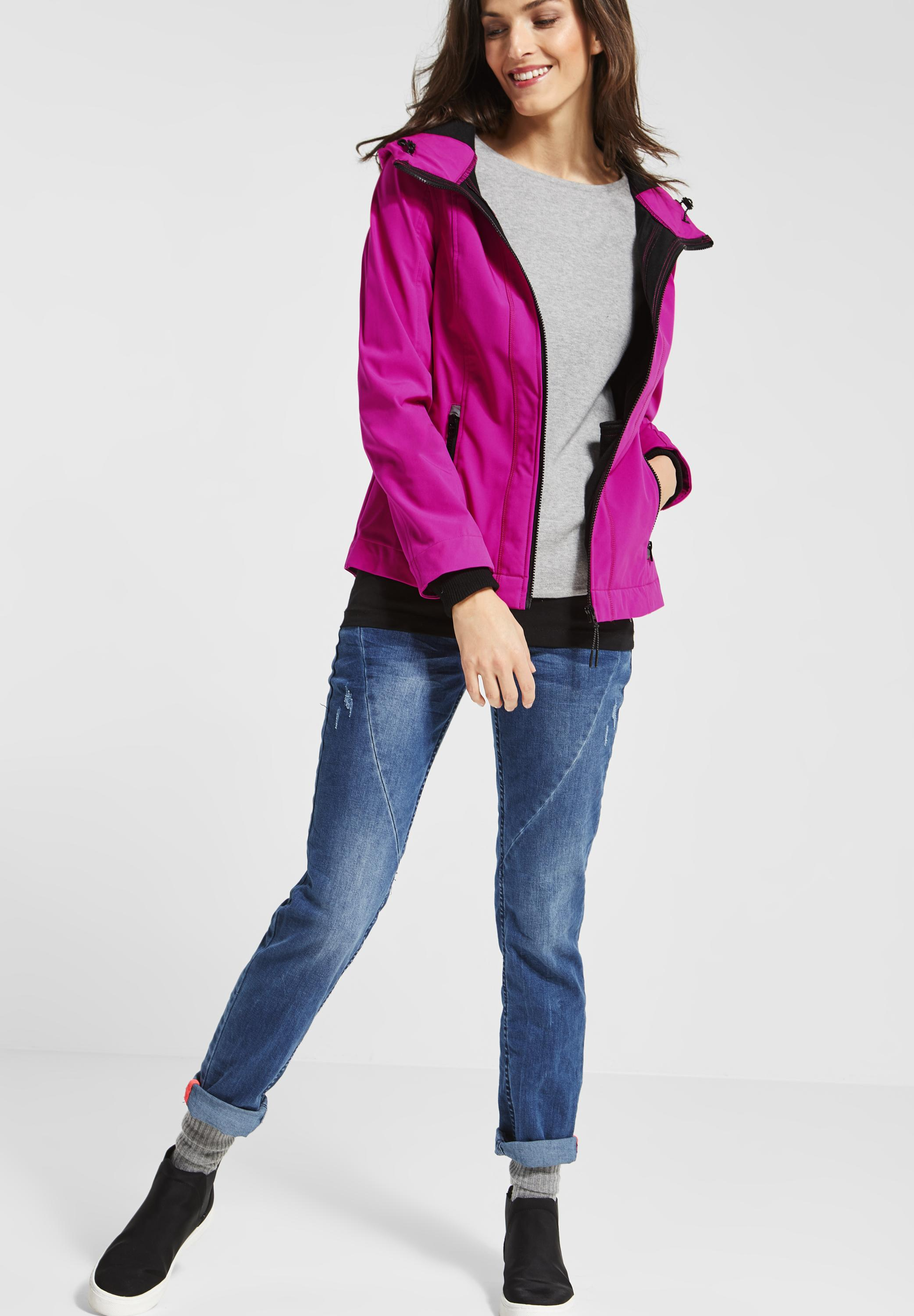 Cecil Jacke In Electric Softshell Pink 54jALR