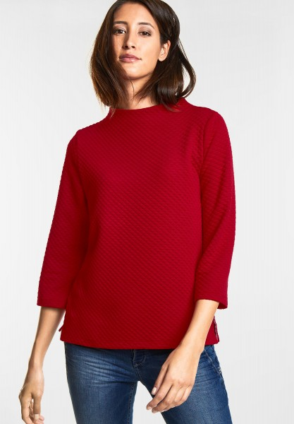 Street One - Punktestruktur Pulli Joena in Pure Red