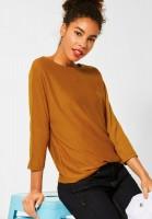 Street One - Shirt mit Fledermausärmeln in Foxy Caramel