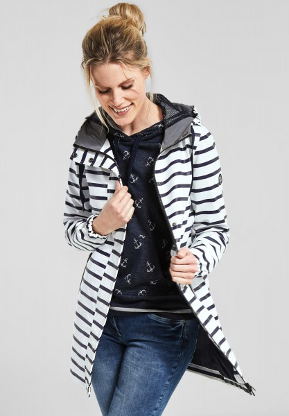 CECIL - Regenjacke mit Allover Print in White