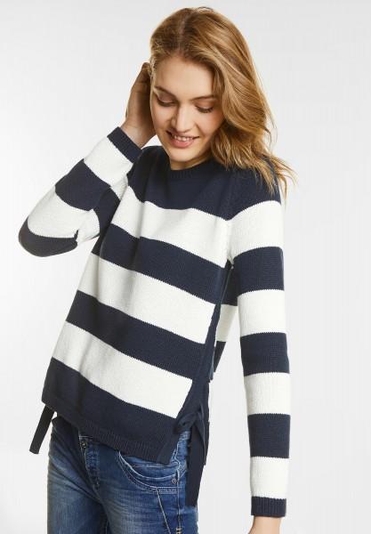 Street One - Pullover mit Streifen in Night Blue