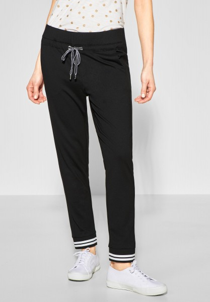 Street One - Jersey Joggpants Bonny in Black
