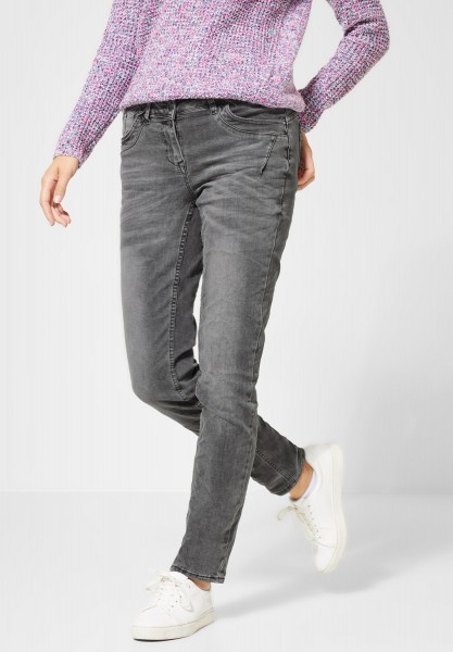 CECIL - Loose Fit Denim Scarlett in Grey Used Wash