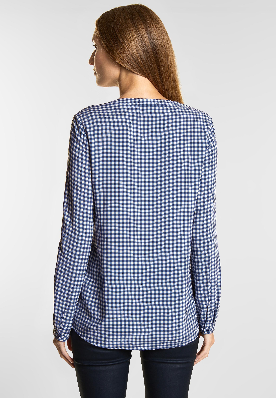 Auf Abstand das beste Geschäft CECIL - Karo Bluse Juliet in Deep Blue