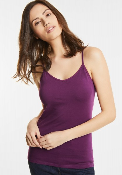 Street One - Organic Cotton Top Svenja in Sunny Violet