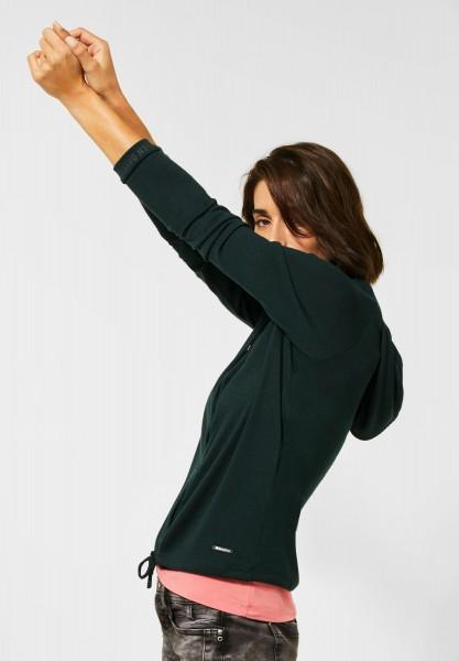 Street One - Shirtjacke in Melange-Optik in Endless Green Melange