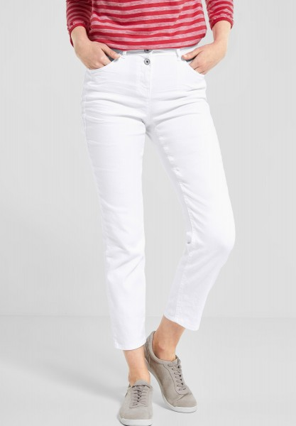 CECIL - Verkürzte Denim Toronto in White Denim