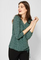 Street One - Shirt mit Punktemuster in Thyme Jade