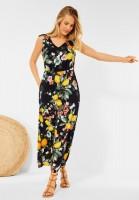 CECIL - Maxi Kleid mit Blumen Print in Deep Blue