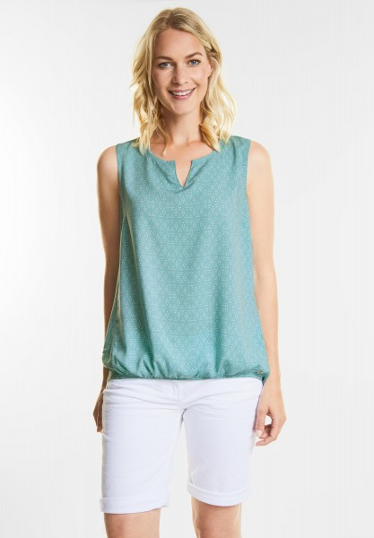 CECIL - Top im Blusen Style in Gingermint Green