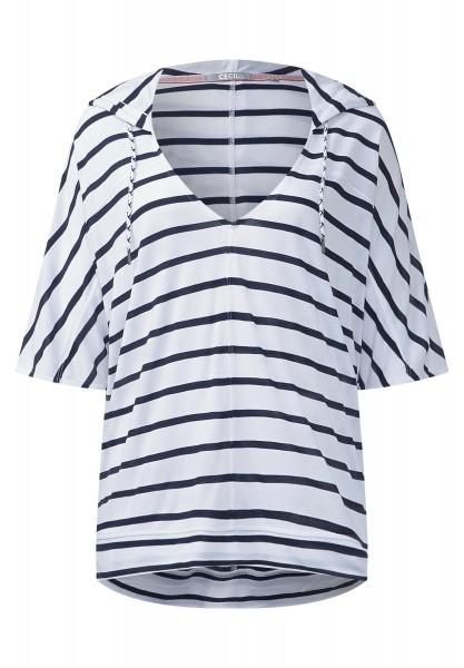 CECIL - Oversize Hoody-Streifenshirt