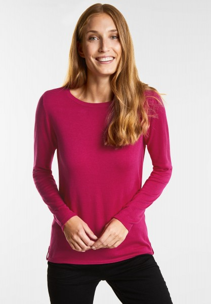 CECIL - Softer Basic Pullover in Bright Magenta
